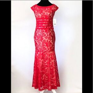 Red Lace Sexy Mermaid Dress
